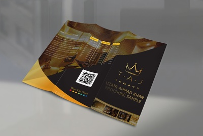 Design your brochure in A4 size with three folds