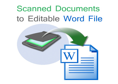 Type 10 scanned pages into an editable Word file