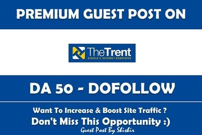 Publish a Guest Post on TheTrentOnline.com - DA 50