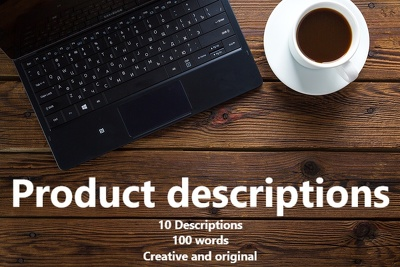 Write or rewrite 10 x 100 word product descriptions.