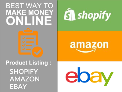 Do Effective Product Listing On Ebay, Amazon And Shopify