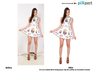 Professionally cut out 20 images, Remove background and retouch