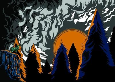 Create a vector landscape illustration