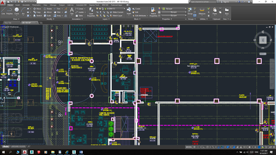 Draw two professional floor plans in Autocad