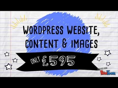 Create your Wordpress website, including content and images