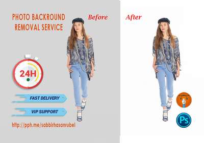 Background Removal of 30 Photos in 24 hrs