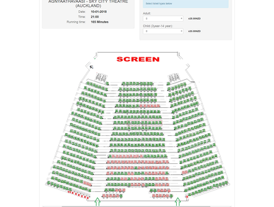 Website for Movies bookings with seat selection with payment