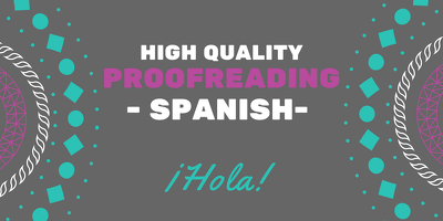 Proofread you spanish text