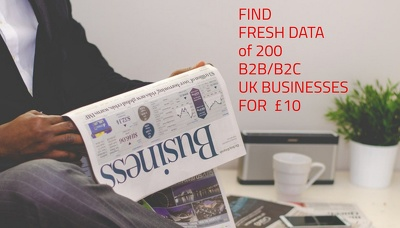 Provide Targeted 200 B2B/B2C UK Company Information [Fresh Data]