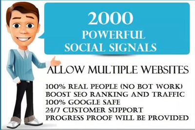 Get 2900 real high quality social signals, GET 600 FREE