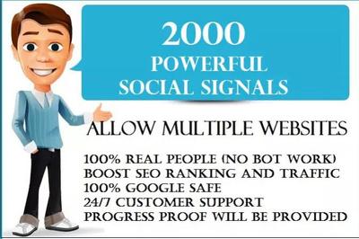 Provide 2,000 PR9 Social Signals Monster Pack BEST for SEO