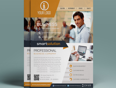 Design single or double sided business flyer
