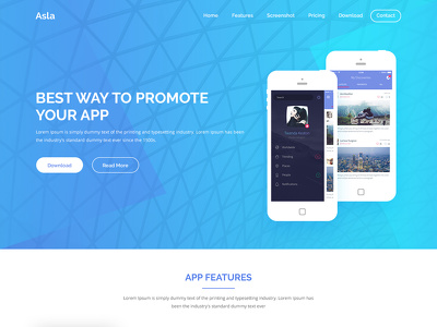 Design PSD web template / Landing page / Home page
