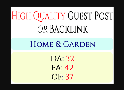 I will do guest post on my home and garden organic blog