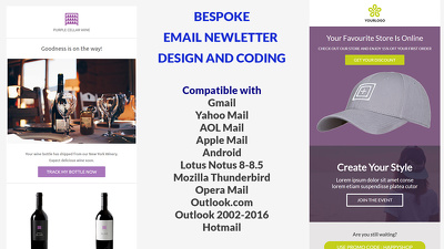 Design and code a responsive email newsletter