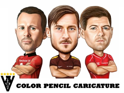 Draw your color pencil caricature