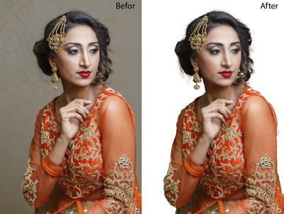 10 model Retouching and enhancement.