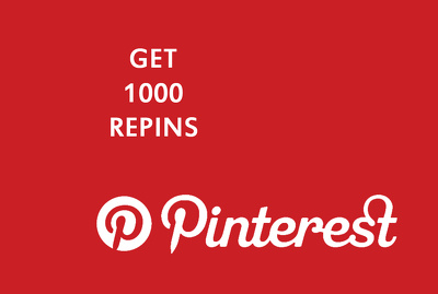 Give you 1000 Pinterest Repins & boost your SEO on social media
