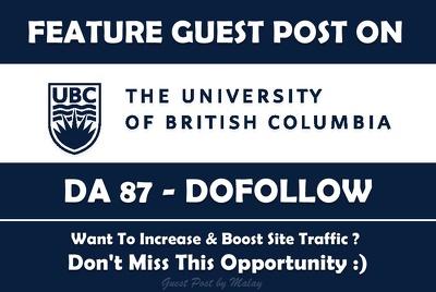 FEATURE Guest Post on University of British Columbia Ubc.ca DA87