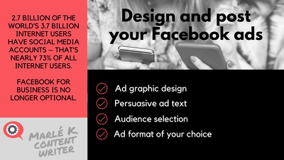 Design and post an engaging Facebook ad