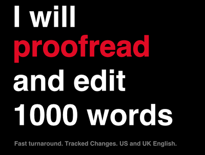 Proofread 1,000 words for error-free publication