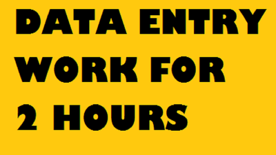 Do all Data Entry Work for 2 hours