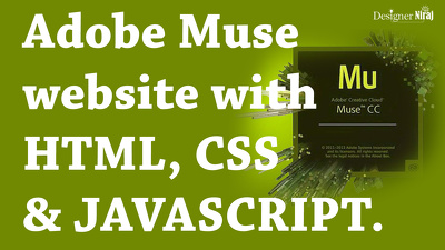 Make stunning adobe muse website with html, css, javascript
