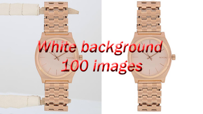 Add White Background, Cut Out ,Crop 100 Images