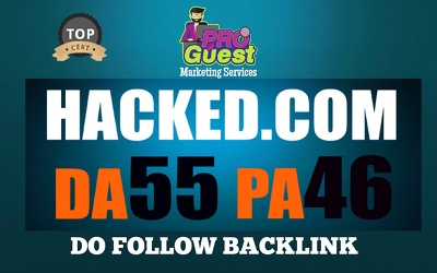 Do a Cryptocurrency Guest Post on HACKED.com DA55-PA46