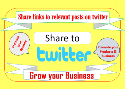 Share your links to 400 relevant posts on twitter manually