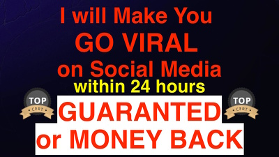 Make You Viral On any Social Media: Facebook Twitter Youtube
