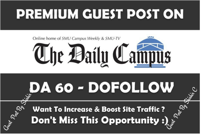 Guest post on SmuDailyCampus.com SmuDailyCampus DA 60