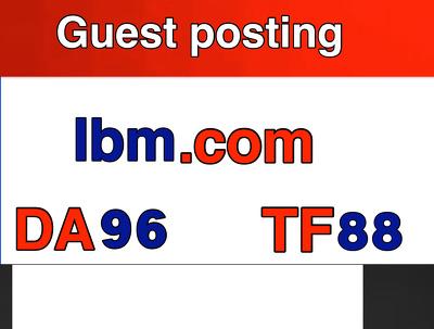 Guest post on IBM . IBM.com No Follow