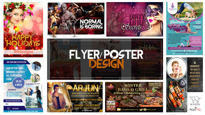 Design a stunning flyer, brochure and poster within 24 hour