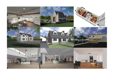 Create your building plans, sections, elevations & 3D views