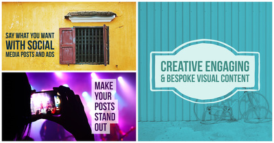Create engaging social media post, ad and banner images
