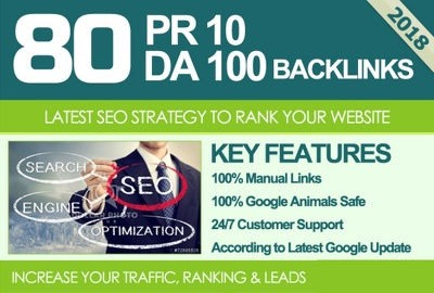 Get 80 Links on High DA Site Safe SEO Powerful High PR Backlinks