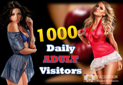 1000 targeted ADULT traffic for your site for 30 days