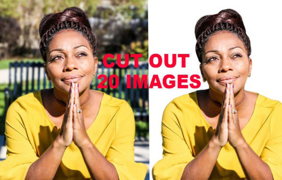 Cut Out 20 Images With Transparent Or White Background