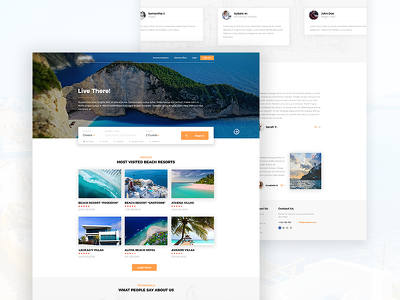 Design a website homepage / landing page PSD