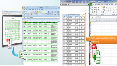 Convert PDF upto 200 (Excel, Word, Notepad)