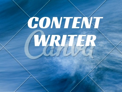 Do content writing for you