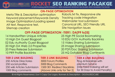 Rocket SEO Complete All in One SEO Package -100% WhiteHat Method