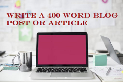 Write a 400 word blog post or article