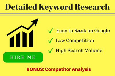 Keyword Research for your Website to Rank on Google (for SEO)