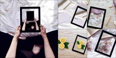 Insert your image into 5 iPad mockups