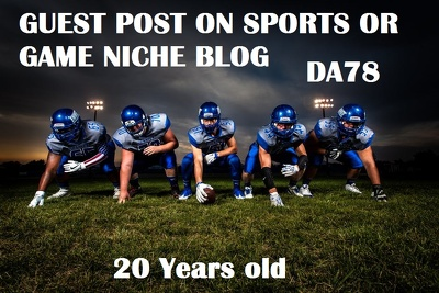 Guest post on Sports OR Game niche DA78 Dofollow blog