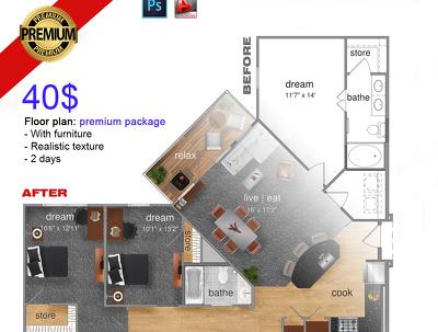 Create 2d floor plan high quality