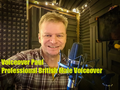 Record a 2 minute professional British male voiceover