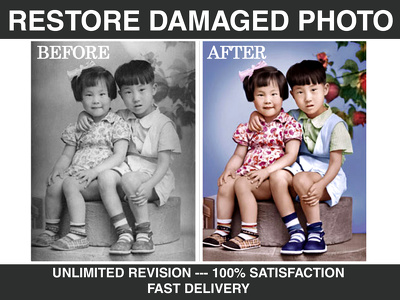 Restore, Repair, Fix Damaged Photo, Image Restore Color